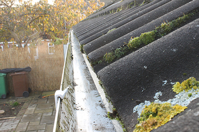Gutter and guttering cleaning image